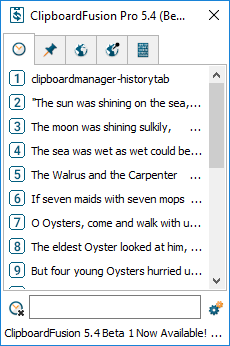 Clipboard Manager History Tab